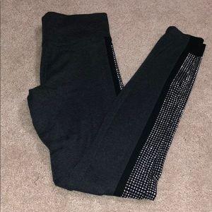 VS pink rhinestones leggings